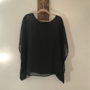 Sheer poncho blouse by Beverly Drive size 2X
